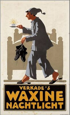 Vintage Poster Verkade♥ Tea-lights. The Netherlands.