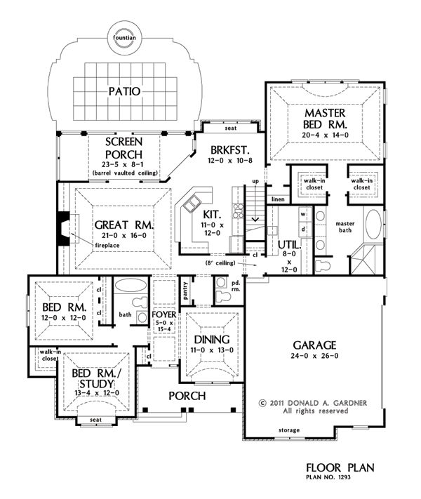 17 best images about new arrivals on pinterest house for Rear master bedroom house plans