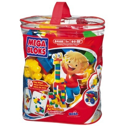 Mega Bloks Maxi Bag Classic Colors - 80 Piece  *WALMARTCHEAPEST* *BOUGHT*