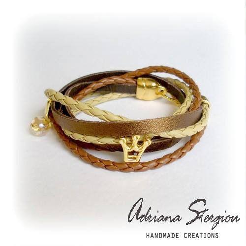 Leather bracelet www.jewelmyday.gr www.jewelmyday.eu #handmade #accessories #fashion #jewelry #bracelet