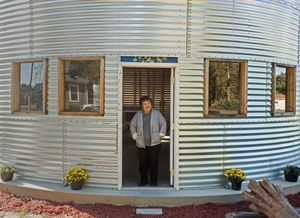 Shell of grain silo makes an unusual house for Robeson County woman