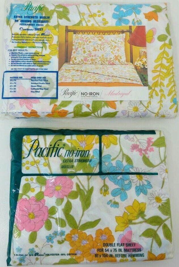 Vintage Pacific U0027Madrigalu0027 Pattern Bed Sheets. Mod Floral Print. | Vintage  Mod Linens | Pinterest