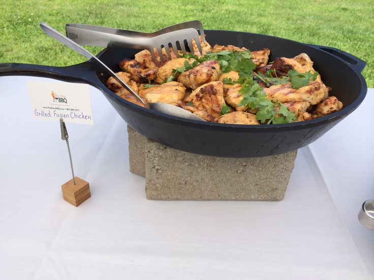 Asian Fusion Chicken with Fresh Cilantro.  Love  using our skillets for display.