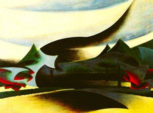 Warship, Widow and Wind (Veil of Vedova and Landscape), 1916