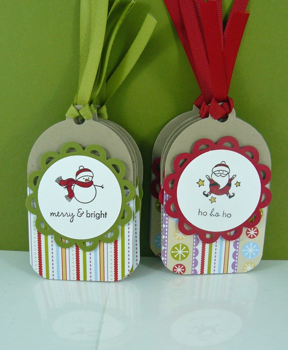 cute tags made from Papertrey Ink stuff
