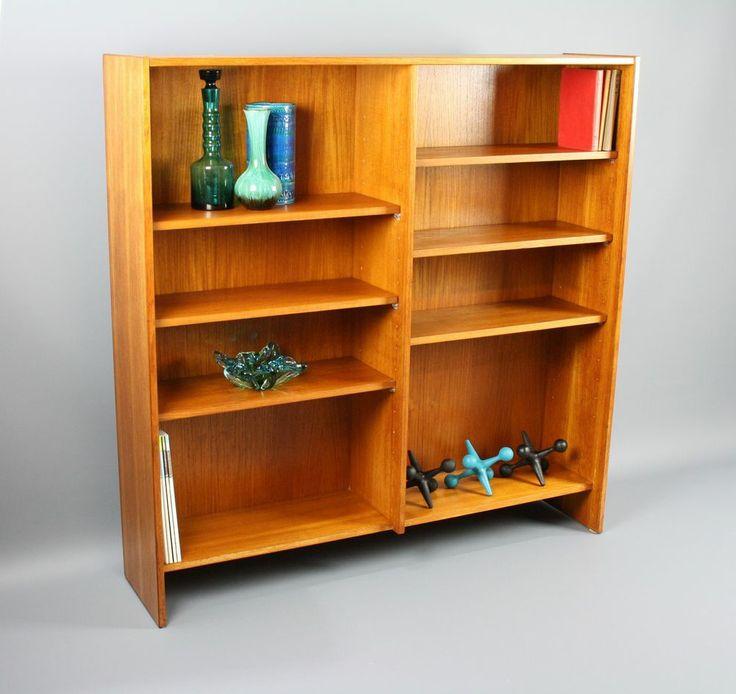 Mid Century Orig. PARKER Teak Bookcase Shelves Sideboard Display Vintage Retro 360 Modern Furniture