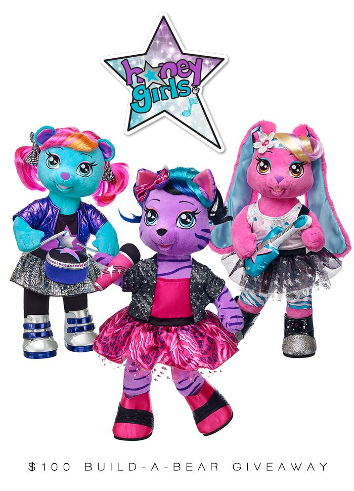 Enter to win a $100 Build-A-Bear Gift Card and check out the Honey Girls!