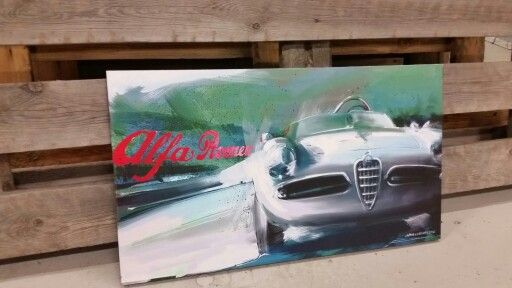 Alfa Romeo painting, Jarno Lehtinen