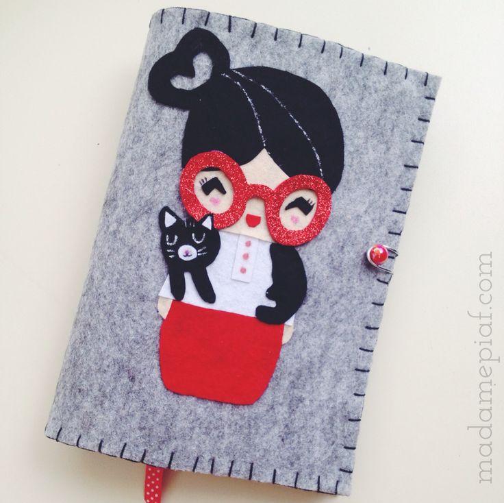 Momiji dolls kitap kılıfı Felt Book Case