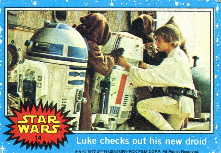 I had nearly all of them. - STAR WARS Trading Cards Series One, Topps 1977