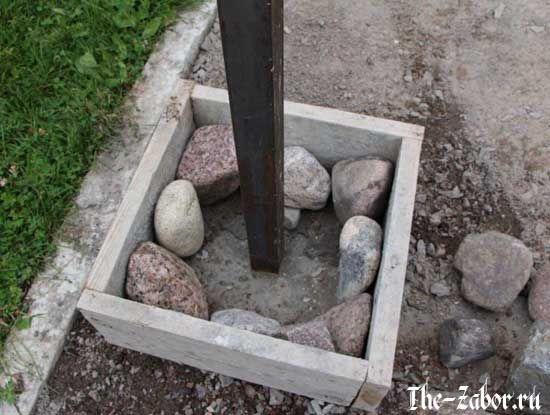 Как сделать столбы из камня для забора? Пошаговое руководство + ВИДЕО
