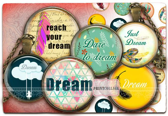 Dream Motivational Printable images Instant by PrintCollage