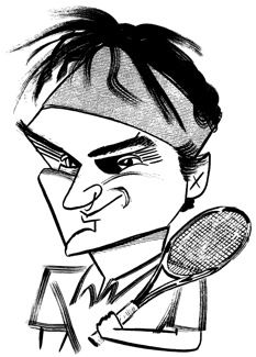 50 best Tennis players caricatures images on Pinterest