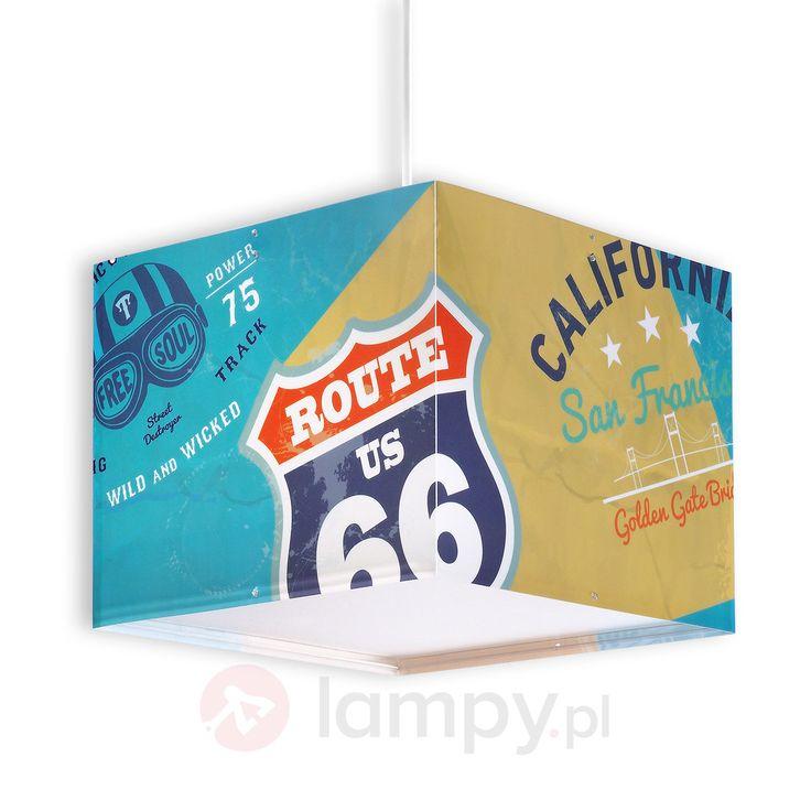 Ciekawa dziecięca lampa wisząca Route 66 2507327