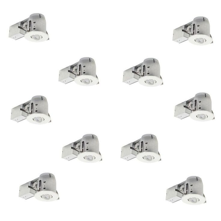 Globe Electric 4 in. White Recessed Swivel Lighting Kit with Contractor's (10-Pack) 90954 at The Home Depot - Mobile