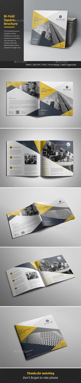 Corporate Bi-fold Square Brochure Template PSD. Download here: http://graphicriver.net/item/corporate-bifold-square-brochure-07/15884291?ref=ksioks