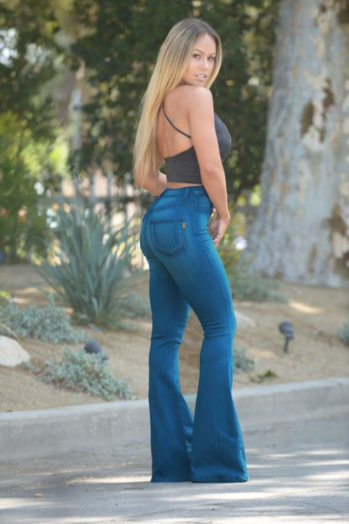 Bell Bottom Blues Jeans Vintage Blue Bell Bottom Jeans