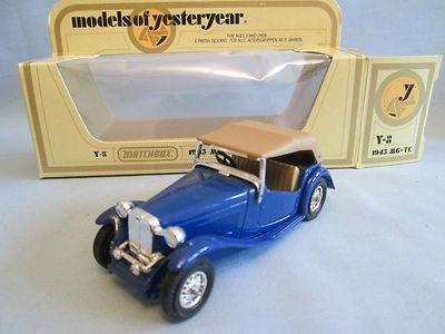 "Matchbox Models of Yesteryear Y8-4 1945 MG ""TC"" Car"