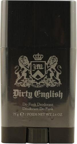 Dirty English by Juicy Couture For Men. Deodorant Stick 2.6-Ounces by Juicy Couture. Save 60 Off!. $8.00. Passion inducing mixes. Original and 100 percent authentic. Launched by the design house of Juicy Couture in 2008, DIRTY ENGLISH is a men's fragrance that possesses a blend of Blue Cypress, Mandarin, Bergamot, Black Leather, Sandalwood, Amber Musk, Atlas Cedar, Vetiver, Wood, Black Moss Absolute