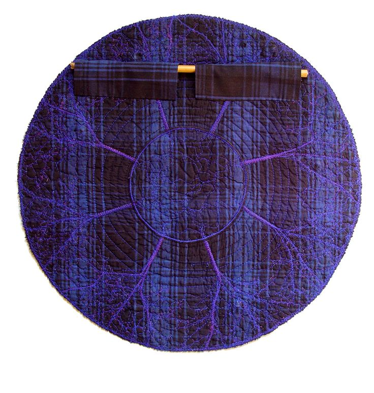 How to hang a rounded textile artwork on the wall?   The Textile Cuisine: Back to the trees / Na drzewa!