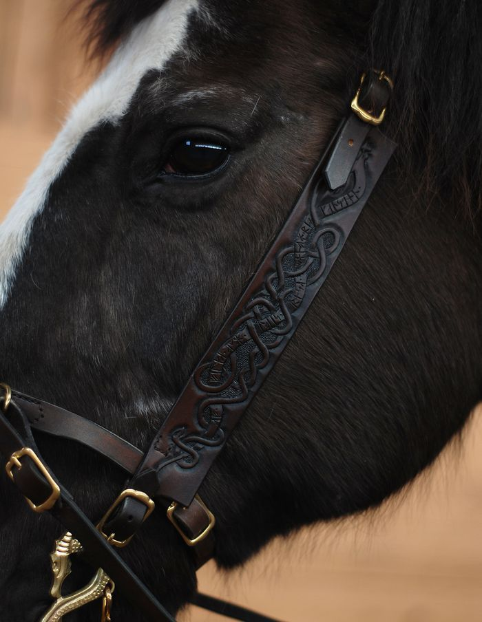 Viking inspired bridle + cavesson. ailim.blogg.se