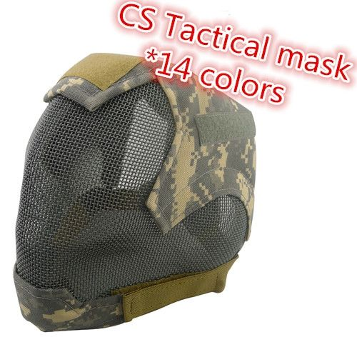 28.59$  Watch here - http://ali65j.shopchina.info/1/go.php?t=32597759722 - V6 Paintball Protective Tactical Masks Steel Net Mesh Fencing Mask Full Face Cover Face Ears Airsoft Military Cosplay Masks 28.59$ #magazineonlinebeautiful