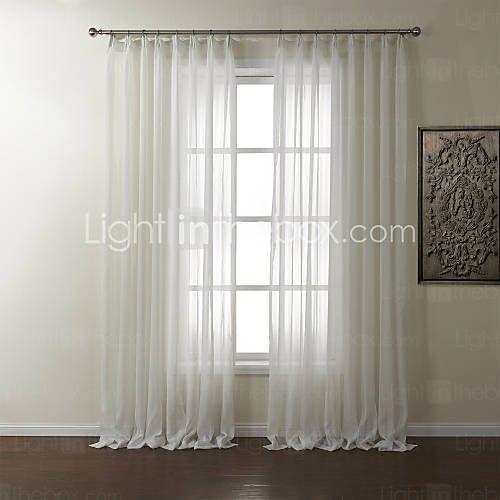 Custom Made Sheer Sheer Curtains Shades Two Panels 2 72w