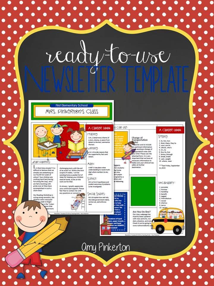 The 25+ best Class newsletter ideas on Pinterest Parent - preschool newsletter template