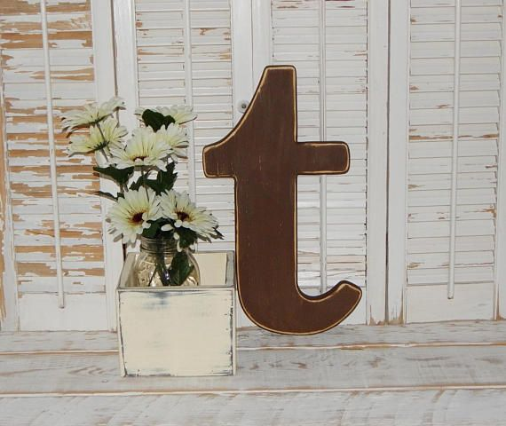 Lowercase Wood Letters Distressed Wooden Letter Lowercase t | Wood ...