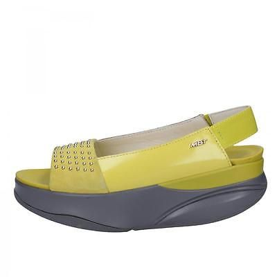 698db62a653d AC431 MBT shoes yellow leather suede women sandals EU 37