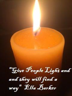 A beautiful candle.