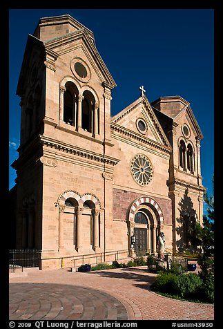 Cathedral Basilica of St Francis de Assisi. Santa Fe, New Mexico, USA