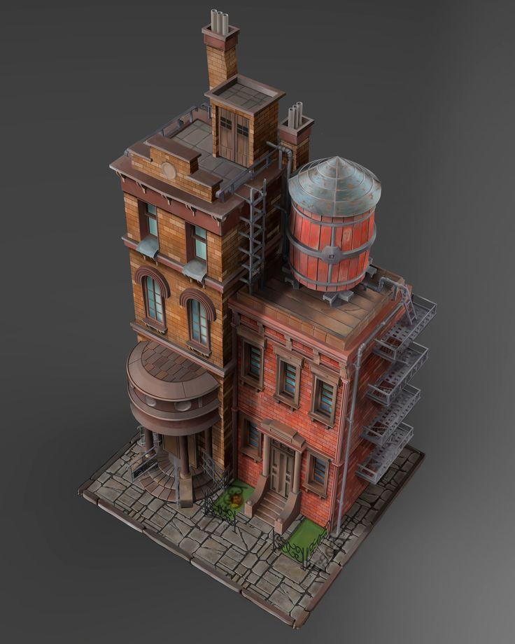 ArtStation - buildings, Max Waterdrunk