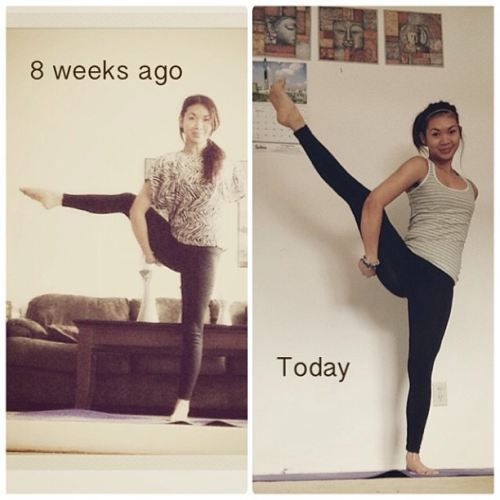 8 weeks flexibility difference