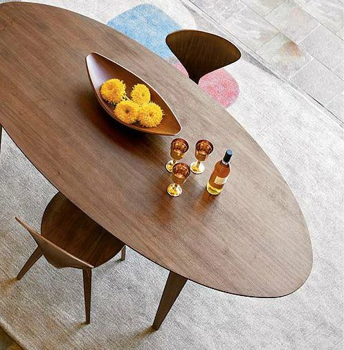 Cherner Oval Dining Table - via Design Within Reach