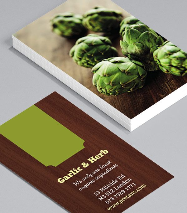 | Food and beverage | Business Cards | F&B | Organic | Food | Drink | Entrepreneur | Cafe | Bar | Restaurant | Graphic | Design | Photography | Print | Branding | Identity | These tantalizing Business Cards, with their stunning, vibrant images, are perfect for a restaurant owner, food blogger, chef, café owner, organic vegetable delivery service, food suppliers or even a food photographer. They show your business is no-nonsense, and uses only the finest of ingredients.