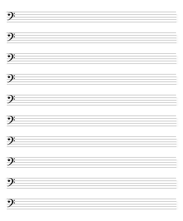 free sheet music pdf blank