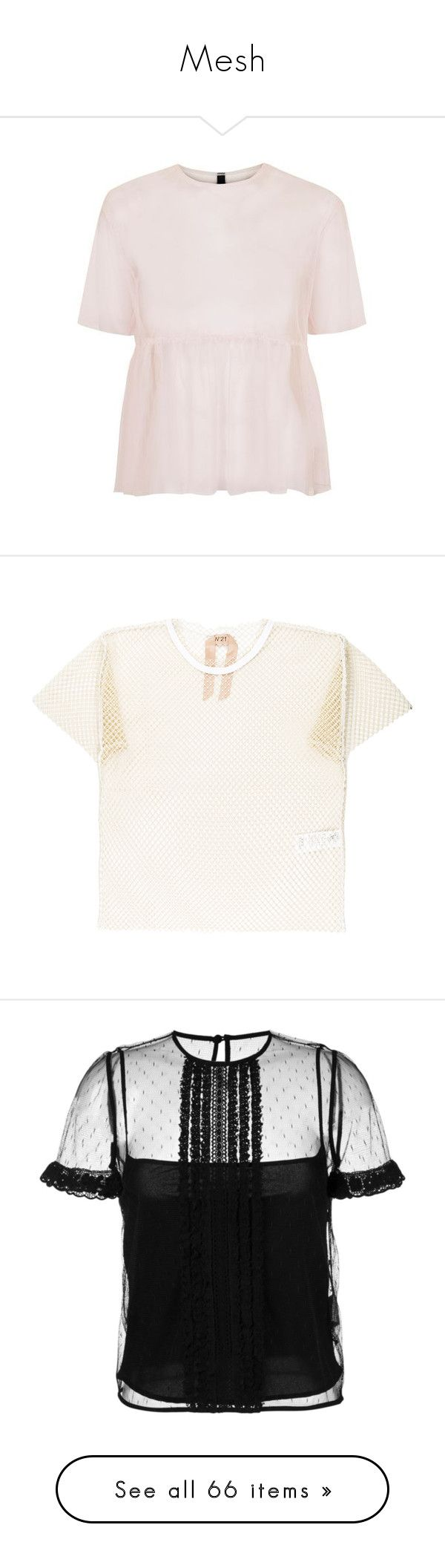 """""""Mesh"""" by girlwithherheadintheclouds ❤ liked on Polyvore featuring tops, t-shirts, white mesh top, mesh tee, mesh top, mesh t shirt, white t shirt, blouses, black and polka dot top"""
