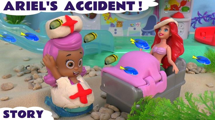 Mermaid Bubble Guppies Story Play Doh Disney Princess Ariel Accident Pre... #Mermaid Princess Ariel joins the #Bubbleguppies, but has an accident. The Bubble Guppies look after her. What was the accident? #bubbleguppies   #ariel   #arielthelittlemermaid   #princess   #toys   #story   #preschool   #hospital   #playdoh