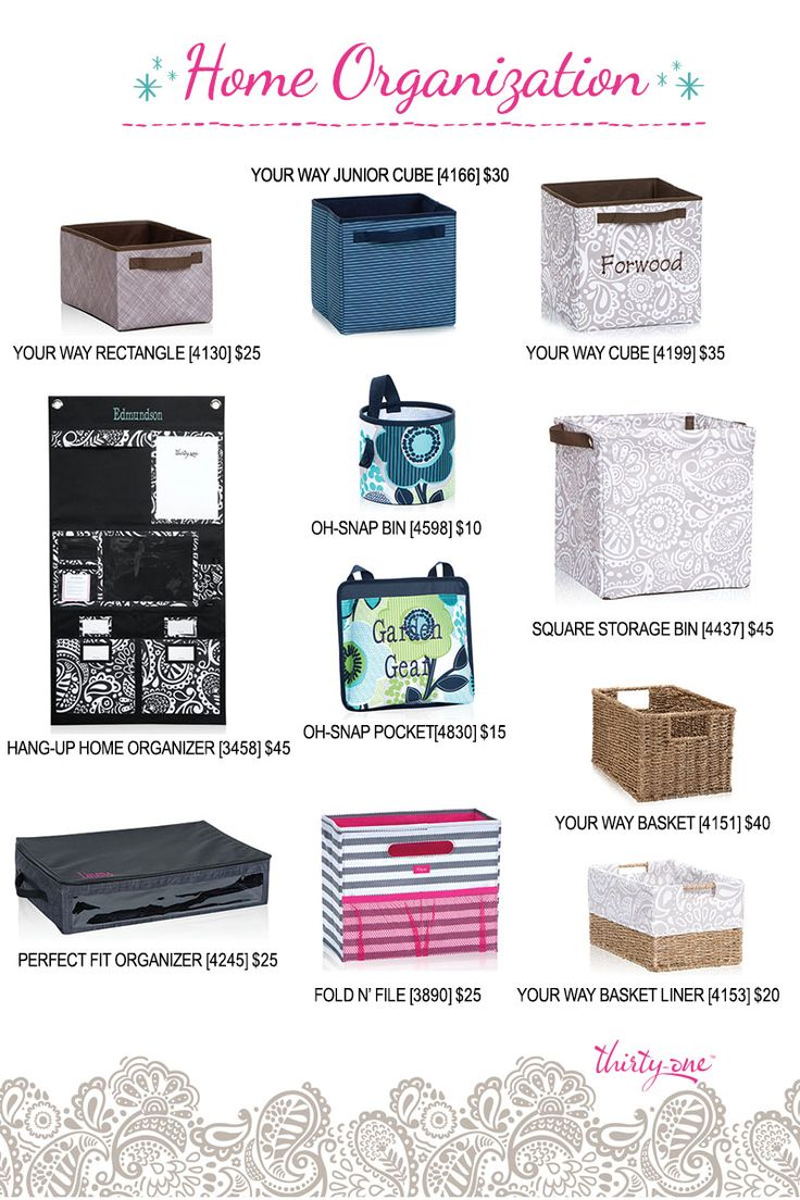 Oh Snap Bin Ideas - A closer look at home organization with thirty one your way rectangle your