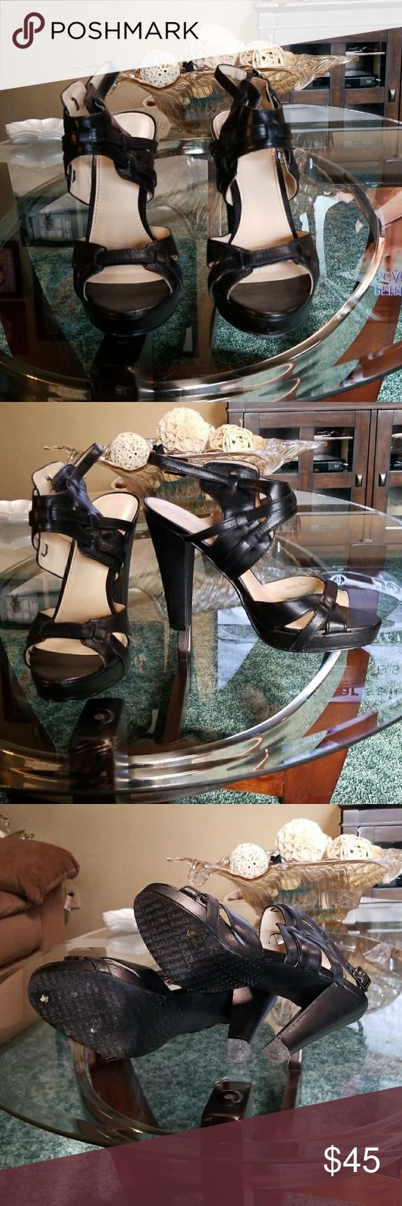 "Calvin Klein heels Worn once, black 4"" heels with 1/2"" platform. Comes with box. Calvin Klein Shoes Heels"