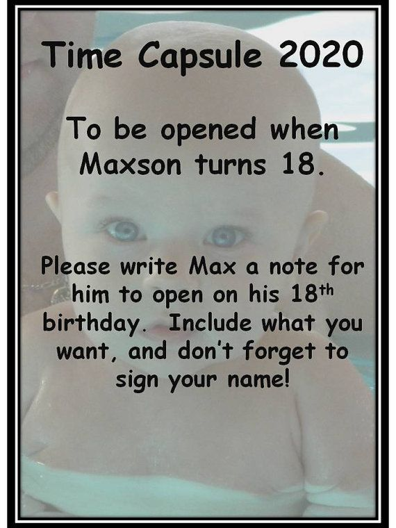 Idea for a time capsule for a baby naming ceremony  www.cherishceremonies.com