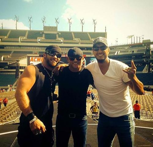 Brantley Gilbert and Cole Swindell and Luke Bryan...mother of everything to much hotness in 1 picture!