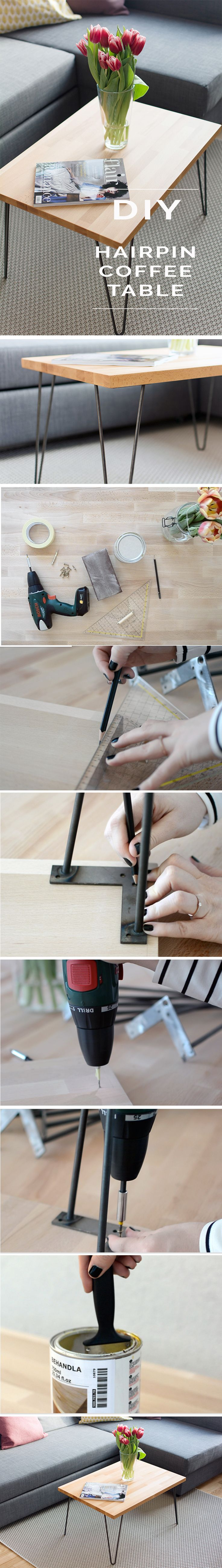 DIY ^ coffee table ^ hairpin legs ^ interior ^ living room ^ steel legs