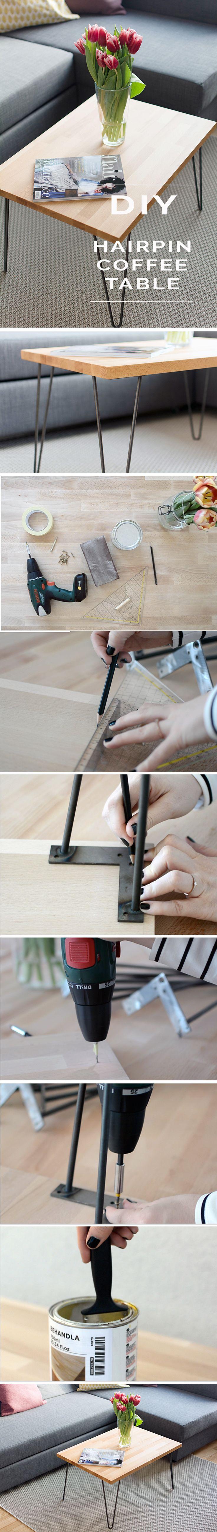 DIY ^ coffee table ^ hairpin legs ^ interior ^ living room ^ steel legs