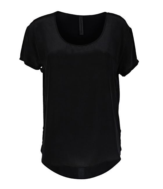 Everyday Elisa - Black Silk Tee - 100 % Silk