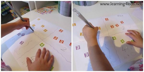 Number Activity - Sorting Number Stickers