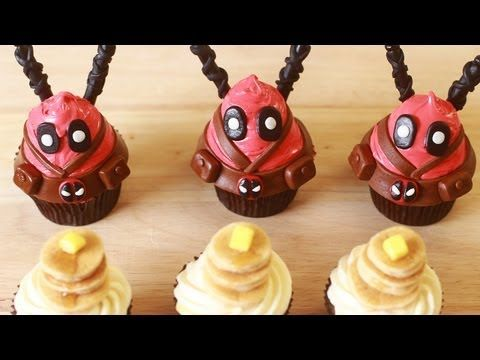 Learn to Make Your Own Delicious Deadpool Cupcakes