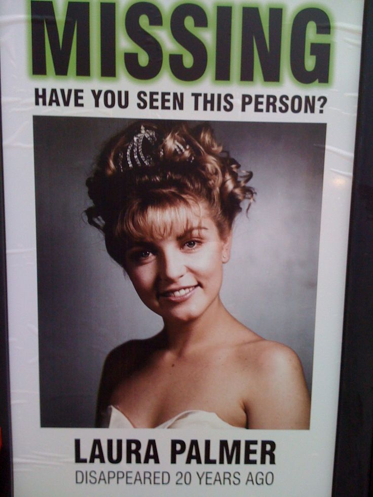 9 Best Images About Twin Peaks On Pinterest   Missing Poster Generator  Make Missing Poster