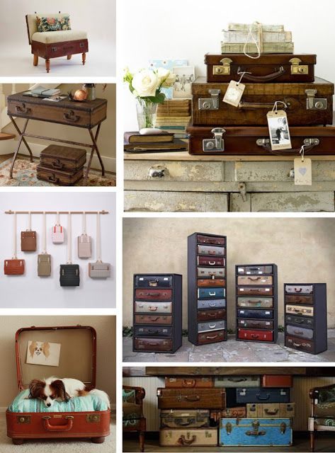 Travel Inspired Guest Room: Suitcase Ideas On Pinterest